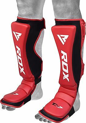 RDX MMA Shin Guards Instep Pads Leg Foot Kickboxing Protector Training Muay Thai