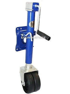 1000LBS TRAILER JACK SWIVEL W/ DOUBLE WHEELS RVs BOAT TOWING SYSTEM