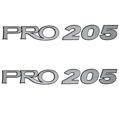 Tracker Pro 205 Silver Boat Decals (Pair)