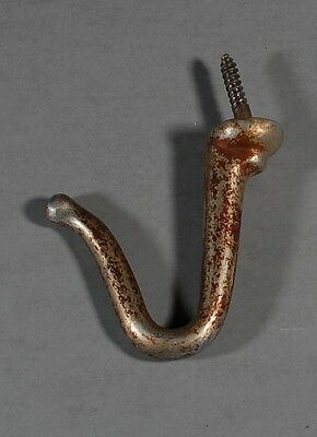 Antique/Vintage Nickel Plated Cast Aluminum Billiard Hook for Ball Racks/Baskets