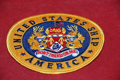 AMERICA UNITED STATES SHIP DON'T TREAD ON ME MILITARY PATCH NEW