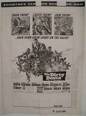 The Dirty Dozen Exhibitor's Campaign Book (Charles Bronson, Lee Marvin, Borgnine