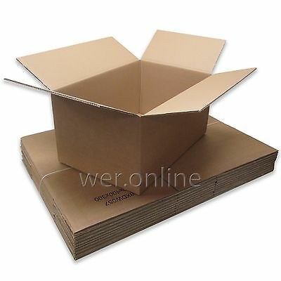 "15 Large Strong Storage Removal Cardboard Cartons 23.5x16x12"" DW Boxes"