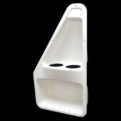 Harris 647-39947 White Plastic Hatch Boat Storage Box Compartment Cup Holders