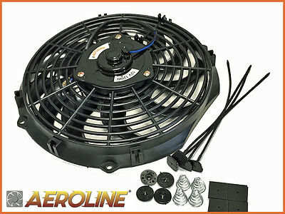"12"" Aeroline® Electric Radiator Cooling Fan Push/Pull Ideal HOT ROD / KIT CAR"