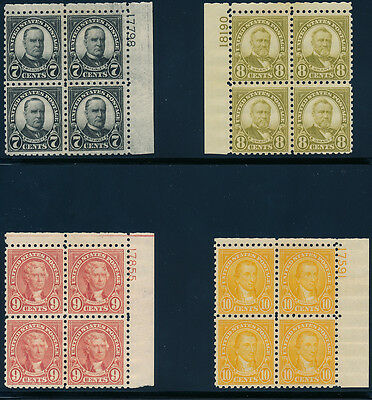 #581-591 Plate Blocks Vf Og Nh Comp. Set Cv $3810.00 Wl1069 Jmfmr