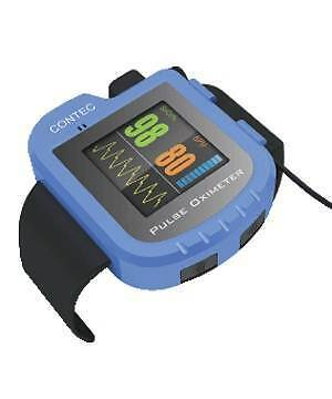 Contec Colour Wrist Watch Finger Pulse Oximeter CMS50I