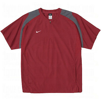 NWT Mens Nike STORM FIT Baseball 1/4 Zip SS Wind Jacket Pullover $55 Burgundy