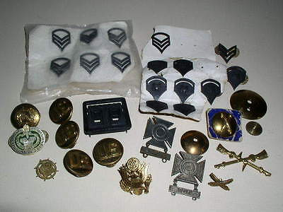 Vintage Military Insignia, Pins, Accessories, Lot of 33!
