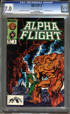 Alpha Flight #9 CGC 7.0 FN/VF Universal