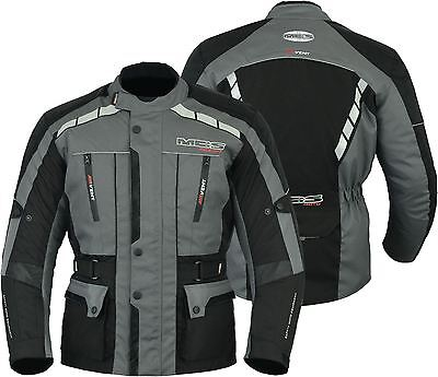 New Armour safety motorcycle motorbike scooter waterproof textile jacket Black