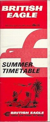 British Eagle Timetable Summer 1967 No 1 International Airlines