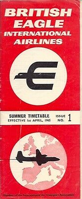 British Eagle Timetable Summer 1965 No 1 International Airlines