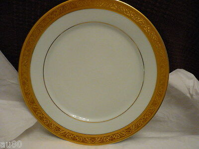 Philippe DESHOULIERES Trianon Gold salad luncheon  plate  NWT!  Gorgeous!