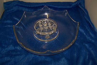 Vintage Console Bowl W/ Flower Frog New Martinsville - Viking 30's - 40's