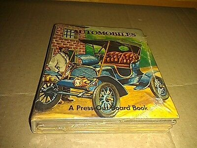 Automobiles Children's Press-Out Book Grosset Dunlap Sealed