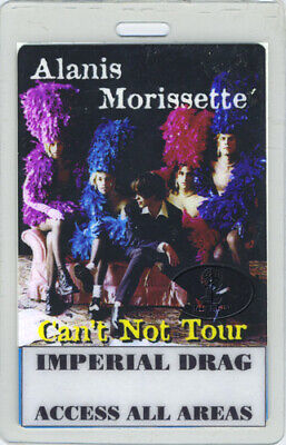 ALANIS MORISSETTE 1996 Tour Laminated Backstage Pass