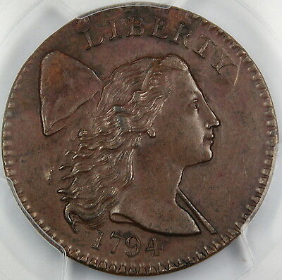 1794 Flowing Hair Large Cent PCGS AU Details Head of 1794 Great Coin GKG