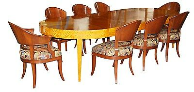 9-Piece Art Deco Dining Set circa 1925 #7417