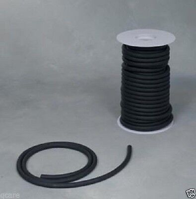 "50ft. BLACK RUBBER SURGICAL LATEX TUBING 1/4"" ID 3/8 OD 1/16"" WALL  FEET REEL RO"