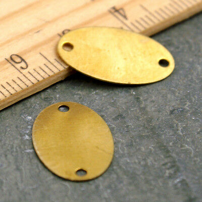 Brass Blank Oval Connector Tag Base Plate 18x11mm b112(12pcs)