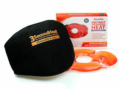 Therapeutic Knee Instant Click Heating Pad with Brace/Cover ..Absolutely Amazing