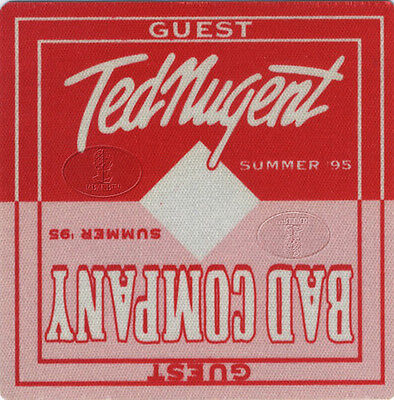 BAD COMPANY & TED NUGENT 1995 Backstage Pass GUEST red