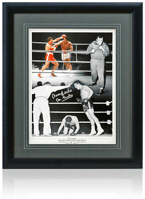 Brian London large hand signed framed montage AFTAL COA Boxing feat Muhammad Ali