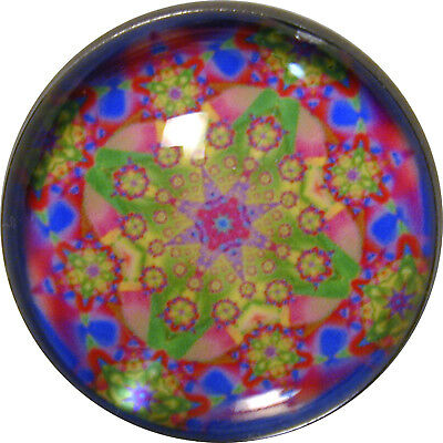 1 inch Crystal Dome Button Kaleidoscope  #47 FREE US SHIPPING