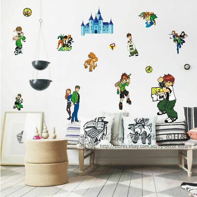 New BEN 10 Removable Wall Stickers Nursery Baby Decor Decal Kids Boys DIY Art II