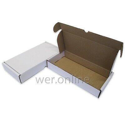 100 x Large White Die-Cut Gift Packaging Cardboard Boxes 12 x 6 x 2""