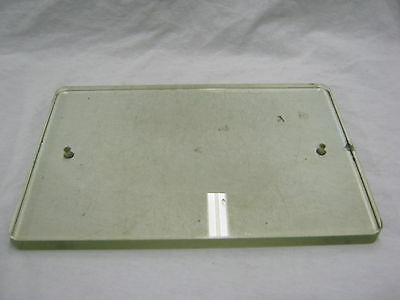"Vintage Glass 10""x15"" Writing Bank Tablet Bathroom Industrial  #846-12"