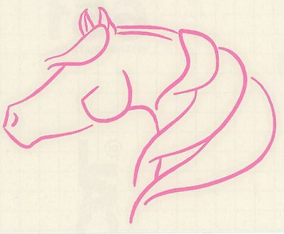 Med Pink Arabian Morgan Horse Pony Equestrian Cowgirl Trailer RV Decal Sticker