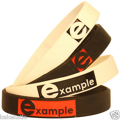 Example wristband silicone bracelet / wrist band bangle gift fashion boy band
