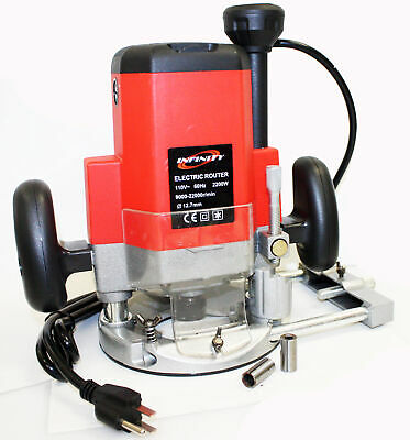 "1850W 2HP 1/2"" or 1/4""   ELECTRIC PLUNGE ROUTER UL listed 1850 Watt 110v 23000RP"