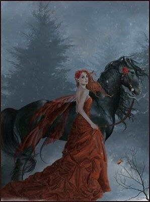 Nene Thomas Echoes Autumn Limited Edition Signed Fairy Print Horse Faery Red New