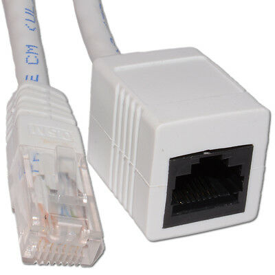 0.5m Networking CAT5e UTP Ethernet RJ45 Network Extension Cable White [006260]