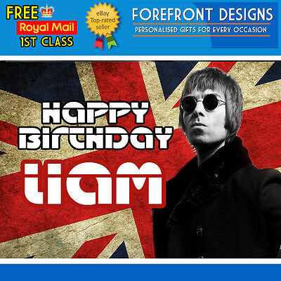 Personalised Liam Gallagher Oasis/Band Birthday Greeting Card A5