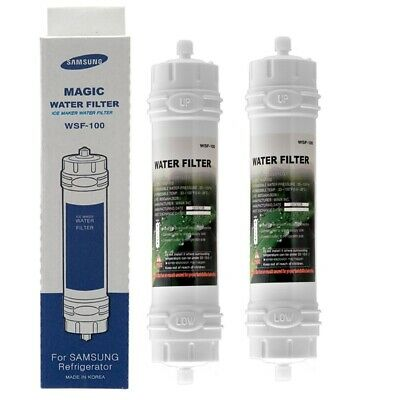 2 x Genuine Samsung  WSF-100 Magic Water Filter for Side By Side fridge