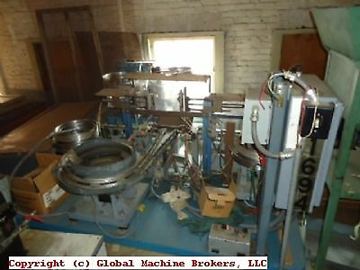 Assembly Machine-3 Vibratory Bowls and Steel Table