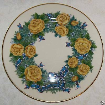 Lenox Sentiments of Roses FREEDOM Collector Plate 1998