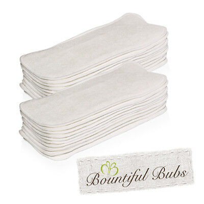 Bamboo Nappy Inserts/Boosters 4 Layer x20