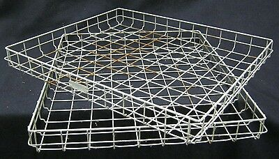 Vintage Industrial Wire Stacking Basket Tray Storage  Country Store  #889-12