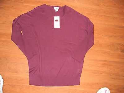 Oh Baby by Motherhood Maternity Burgundy Sweater XL NWT