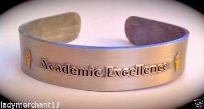 """""""Academic Excellence"""" Torch METAL CUFF BRACELETS/25/NEW!"""