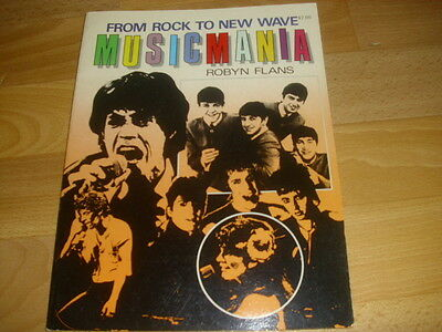 From Rock to New Wave MUSIC MANIA  by Robyn Flans  STARBOOKS Book 1983