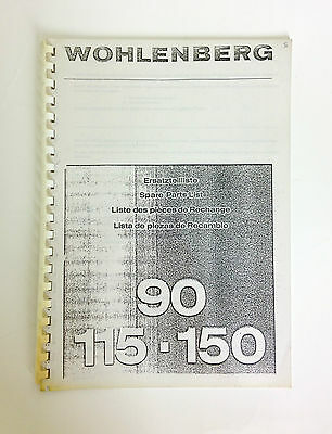 WOHLENBERG Spare Parts List Book 90/115/150 Programmatic