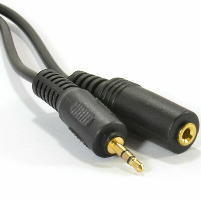 2.5mm Stereo Jack Plug to Socket EXTENSION Cable 2m