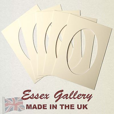 IVORY/CREAM oval picture and photo mounts