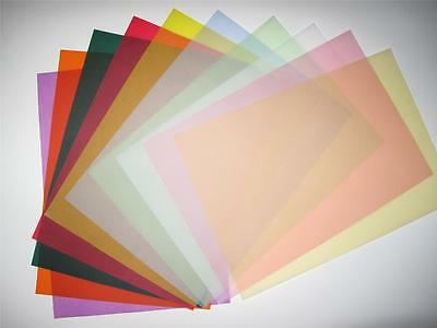 Vellum Coloured Translucent Tracing Paper x 20 A4 100gsm (10 Colours Available)
